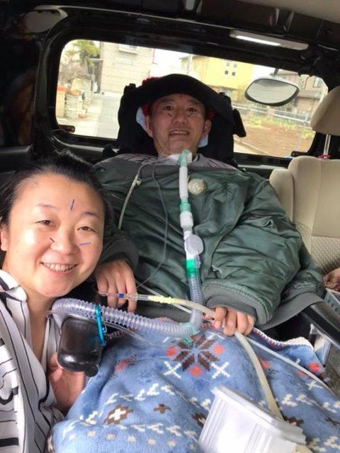ALSの患者様が今年も車で来てくださいました!